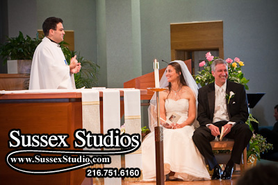 Jennifer & Phil during their wedding Ceremony